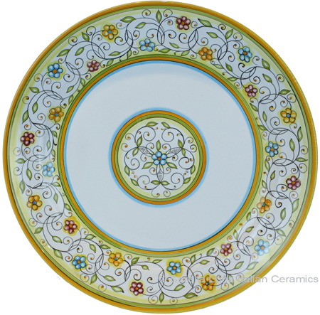 Deruta Italian Charger Plate - Floreale