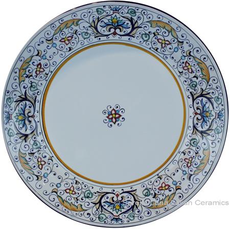 Deruta Italian Charger Plate - Rinascimento