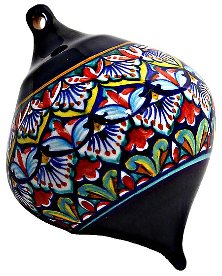 Ceramic Majolica Christmas Ornament Deruta Ricco F1 OV8