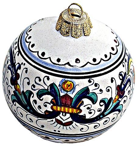 Ceramic Majolica Christmas Ornament Ricco Deruta 8cm