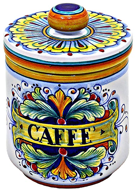 Ceramic Majolica Coffee Jar 90 Ramina 13cm
