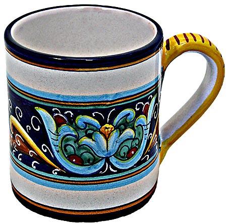 Ceramic Majolica Coffee Mug Cup Ricco Vario Blue Green