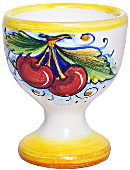 Ceramic Majolica Egg Cup Server Red Grape 6cm