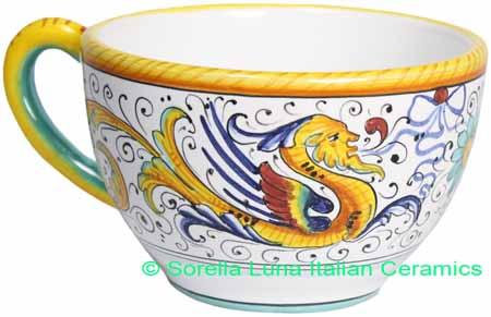 Deruta Italian Ceramic Raffaellesco Coffee cup