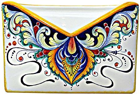 Ceramic Majolica Letter Holder Mail 193 24cm
