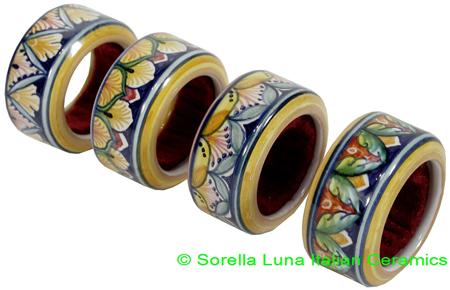 Ceramic Napkin Ring Wine Drip Stop
