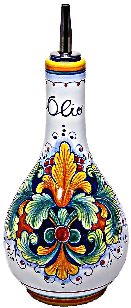 Ceramic Majolica Olive Oil Dispenser Ramina 90 20cm