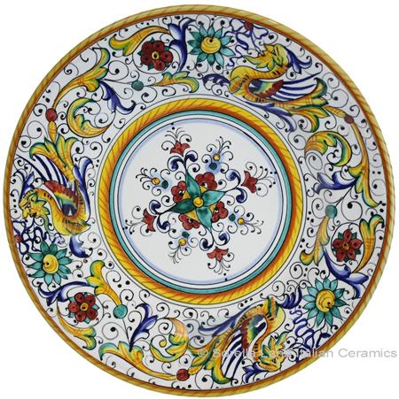 Deruta Italian Pasta Plate - Raffaellesco with Center