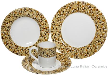 Deruta Italian Ceramic Dinner Place Setting