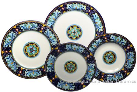 Deruta Italian Ceramic Dinner Place Setting - Ricco Vario 7