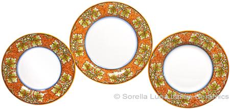Deruta Italian Ceramic Dinner Place Setting - Autumn