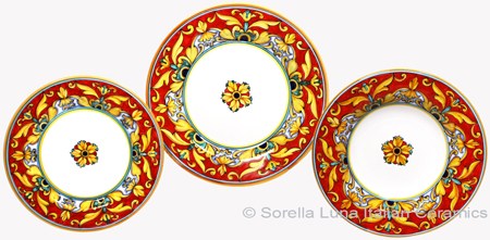 Deruta Italian Ceramic Dinner Place Setting - Brocatto