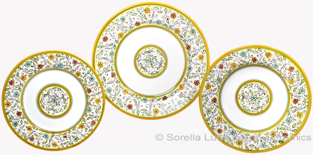 Deruta Italian Ceramic Dinner Place Setting - Floreale