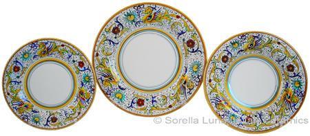 Deruta Italian Ceramic Dinner Place Setting - Raffaellesco