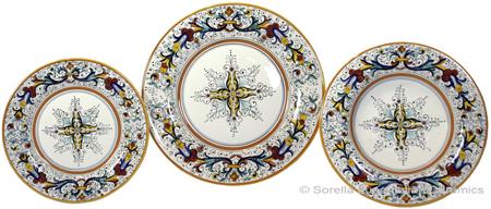 Deruta Italian Ceramic Dinner Place Setting - Ricco Deruta with Center