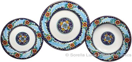 Deruta Italian Ceramic Dinner Place Setting - Ricco Vario 2