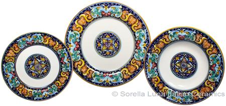 Deruta Italian Ceramic Dinner Place Setting - Ricco Vario 3