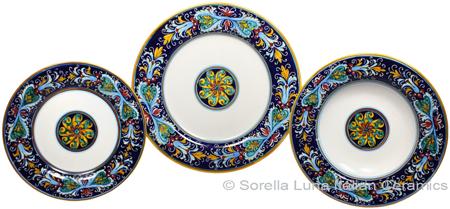 Deruta Italian Ceramic Dinner Place Setting - Ricco Vario 4