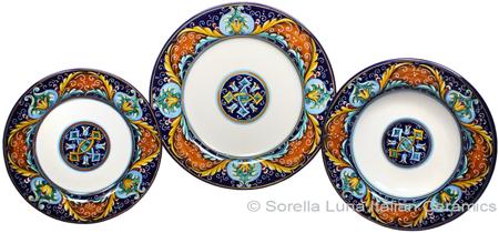 Deruta Italian Ceramic Dinner Place Setting - Ricco Vario 5