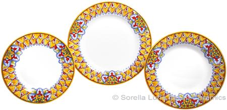 Deruta Italian Ceramic Dinner Place Setting - Summer