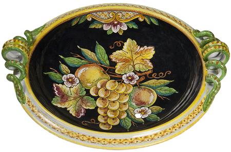 Deruta Italian Ceramic Round Handled Platter
