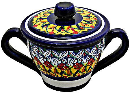 Deruta Italian Ceramic Sugar Bowl