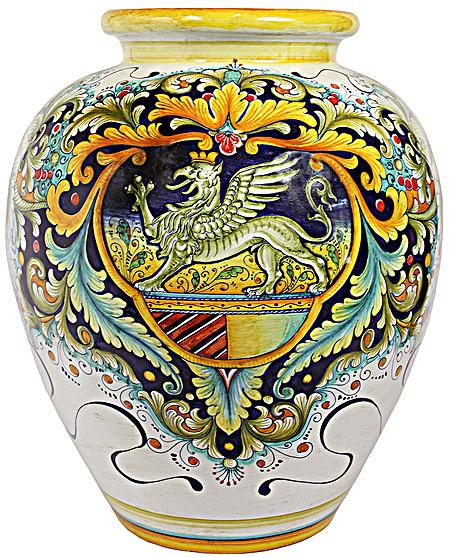 Italian Ceramic Floor Vase - Griffin