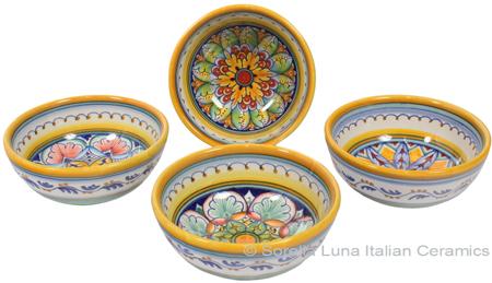 Italian Ceramic Maiolica Vario Bowl set GG 12cm