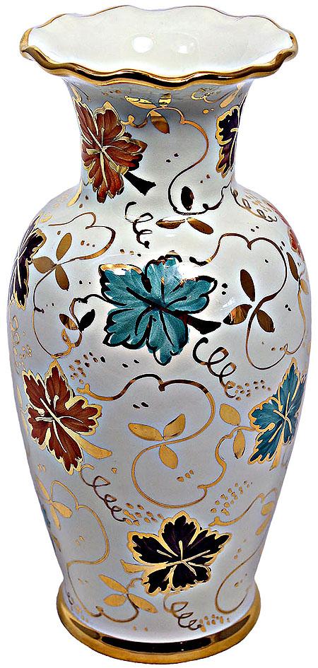 Deruta Italian Ceramic Vase - Autumn Gold 25cm
