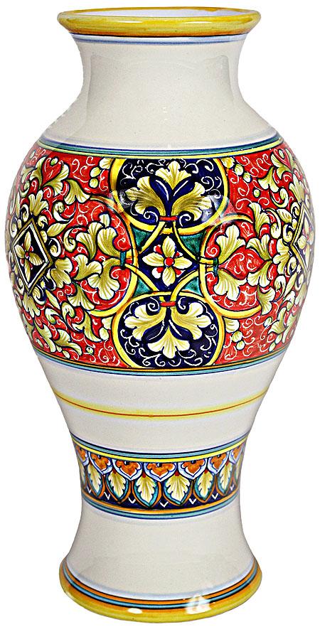 Deruta Italian Ceramic Vase - Geometrico