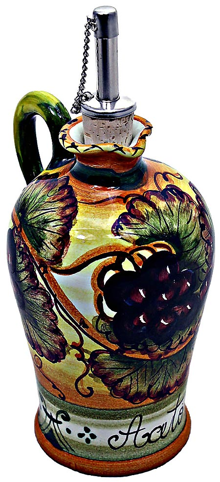 Ceramic Majolica Vinegar Dispenser Grapes N 20cm