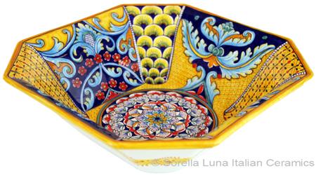 Deruta Eight-Sided Bowl - Deruta Ricco