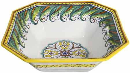 Deruta Eight-Sided Bowl - Tavalo