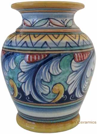 Deruta Italian Ceramic Vase Acanthus Ricco Vario