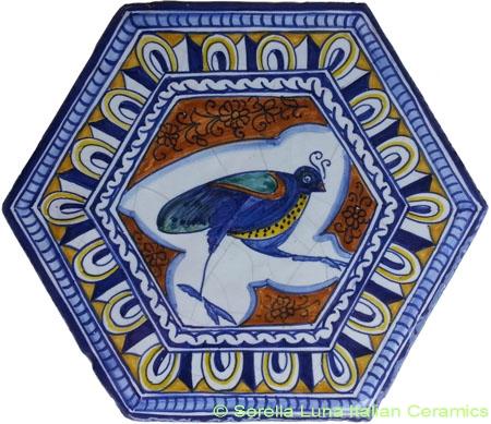 Tile Bologna Hexagonal Bird