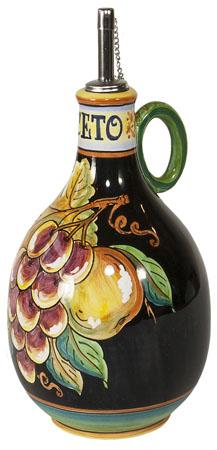 Vinegar Dispenser GP Black with Red Grapes 20cm