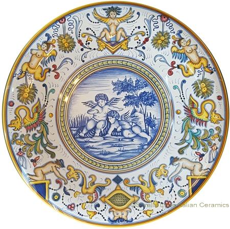 Ceramic Plate - Angeli/Amorini with Nude Border 35cm