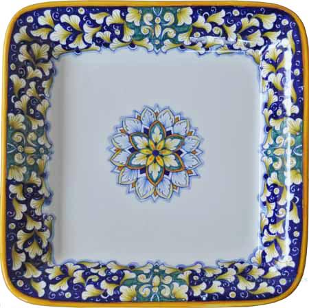Italian Square Platter - Blue/Green G6 - 30cm