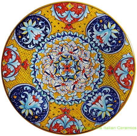 Ceramic Majolica Plate Deruta Ricco 30cm