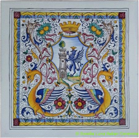 Tile Dragon Medieval Crown