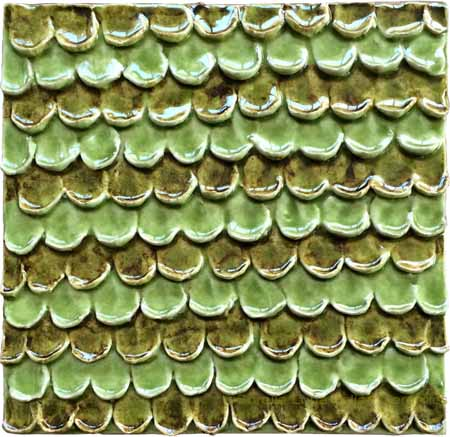 Tile - Green and Olive Petals