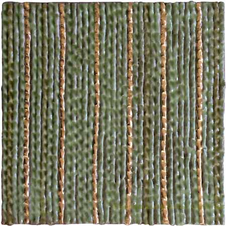 Tile - Light Green with Gold Streak
