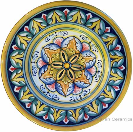 Hanging/Dipping Plate - Blue Yellow - 15cm