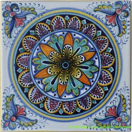 Tile Flower Design Purple