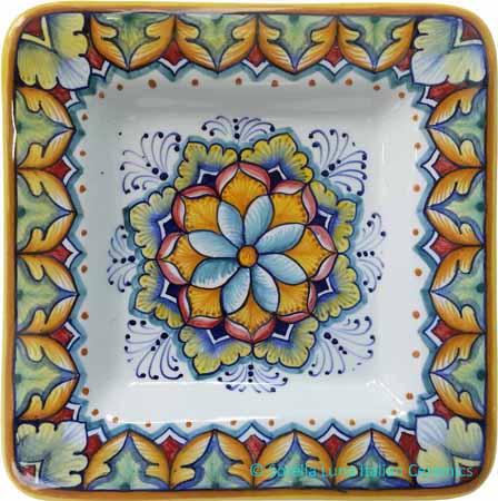 Deruta Italian Square Plate