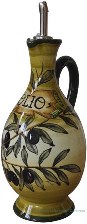Olive Oil Dispenser - Tuscan Green Olive