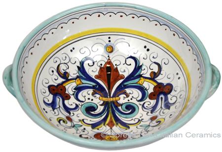 Ceramic Handled Ricco Deruta Serving Bowl
