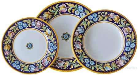 Deruta Italian Dinner Place Setting - Blue Flower