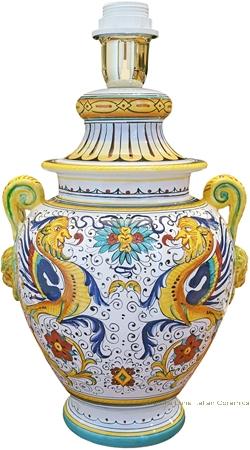 Elegant Scrolled Handled Lamp - Raffaellesco - 32cm