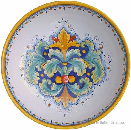 Ceramic Majolica Serving Bowl - Ramina 90 - 30cm